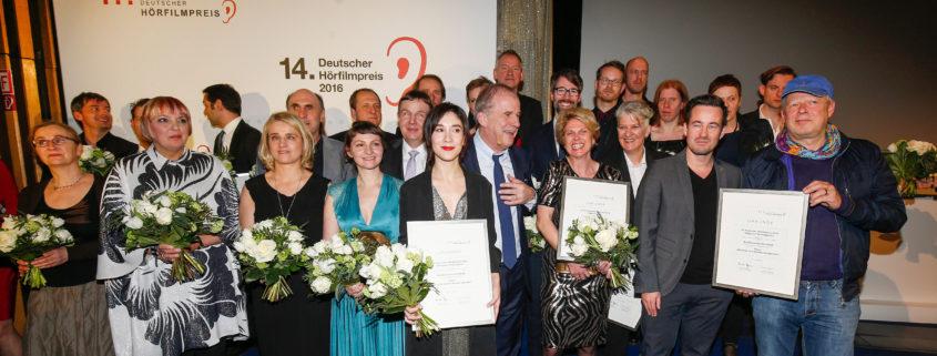 Preisträger des Deutschen Hörfilmpreises 2016 beim 14. Deutschen Hörfilmpreis am 15. März 2016