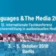 """""""Languages & The Media"""" - 12. Internationale Fachkonferenz Sprachvermittlung in audiovisuellen Medien 3. - 5- Oktober 2018 in Berlin"""