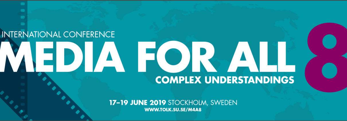 Media4All Konferenz in Stockholm mit Workshops zu Audiodeskription